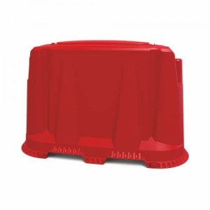 Пластиковый дорожный блок 1200 мм красный